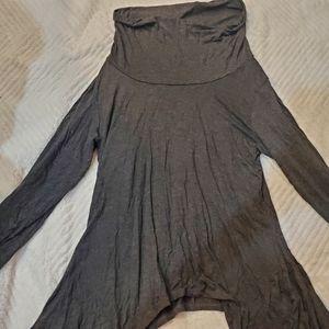 Grey cowlneck sweater